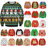 Mens Womens UGLY Christmas Sweater President Trump Xmas Knitted Pullover Tops