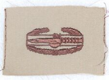 Cloth Army Badge: Combat Action - brown on tan