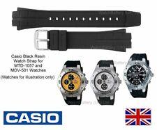 Genuino Reloj Correa de banda Casio para MTD-1057, MDV-501, MTD1057, MDV501-Negro