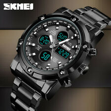 SKMEI Men Quartz Watch Outdoor Sport Digital Stainless Steel Wristwatch 1389