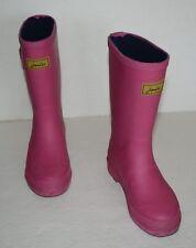 JOULES PINK RUBBER TALL RAIN BOOTS GIRLS SZ 13 *GUC*