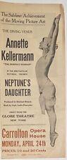 ANNETTE KELLERMAN Rare 1914 NEPTUNE'S DAUGHTER Silent Fantasy Film MOVIE HERALD