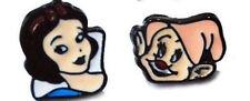 """DISNEY'S SNOW WHITE & HAPPY ENAMEL STUD EARINGS APPROX. 1/2"""""""