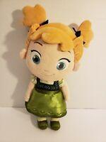 "Disney Store Official Frozen 13"" Anna Soft Plush Toddler Baby Doll Stuffie"