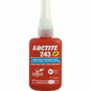 Loctite 243 Thread Lock 50ml Blue Bolt Stud Fast Fix Screw Glue Nut Compound