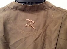 ZERO RESTRICTION BROWN MICRO HOUNDSTOOTH PULLOVER GOLF WIND JACKET M
