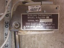 Burling Instruments A-1S-1098 35°-1300° F Thermostat, Used