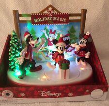 Mickey Minnie Mouse Animated Christmas Tabletop Light Music Holiday Magic Goofy