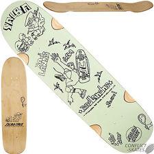 "Santa cruz ""gonz x salba cruz"" skateboard deck 8.75"" x 32.5"" mint green pool"