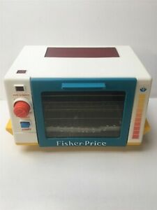 Vintage  Fisher Price. Red Glow Toaster Oven childs play toy retro