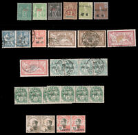French Offices & IndoChina Used 1901-1907 COLLECTION ON BLACK PAGE