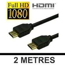 CABLE 2 METRES HDMI HDMI 1.3 PLAQUE OR FULL HD - PS3 LCD BLU RAY XBOX 360