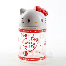 Hello Kitty Cosmetic Makeup Case Clear Q-tip Storage Holder Cotton Pad Swab Box