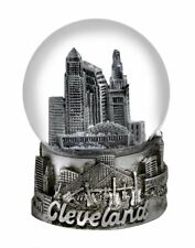 Cleveland Ohio Silver Snowdome Snow Globe-New - 65mm - Zizo
