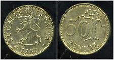 FINLANDE   50 pennia  1982