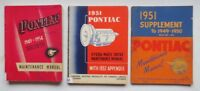 Early 1950's Pontiac Maintenance and Transmission Manuals (3 in Total)