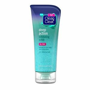 Clean & Clear Oil-Free Deep Action Exfoliating Facial Scrub, Cooling Face Was...