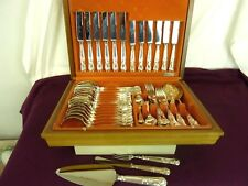 BOXED CUTLERY SET, 50 PIECE, 6 PLACE SETTING, EPNS, MADE IN SHEFFIELD       #GL#