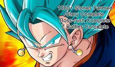 Fresh Dokkan Battle Global/JP Farmed account with 1800/2800+ stones