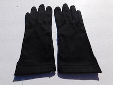 VIOLA WEINBERG LADIES BLACK COTTON DRESS GLOVES SILK LINING SIZE 6