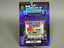 Muscle Machines 1955 CHEVY Silver  Hod Rod 1/64 Diecast #ts3