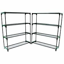 More details for new double pack flower staging display greenhouse racking shelving