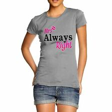 Women's Premium Cotton Mr Right Cute Print T-Shirt