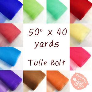 "54"" x 40 yards Tulle Fabric Bolt Tutu Wedding Decoration Party Craft"