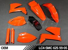 KIT PLASTICHE KTM LC4 SMC 625 660 SM 640 1999 - 2005' 99 -'05 Supermoto Scrub