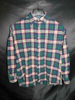 Pendleton M Blue Green Red Plaid Wool Shirt Youth Boys Button Front Chest Pocket