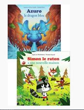 livres Simon le raton + Azuro le dragon bleu NEUF