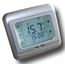 Digital Thermostat SILBER Touchscreen Raumthermostat Wochenprogramm #z859
