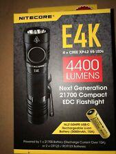NITECORE E4K 4400 Lumen EDC Flashlight with 5000mAh USB-C Rechargeable Battery