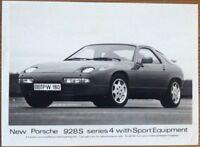 PORSCHE 928S SERIES 4 PRESS PHOTOGRAPH UNDATED BLACK & WHITE