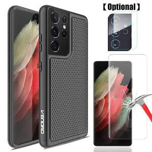 For Samsung Galaxy S21+ S21 Ultra 5G Note 20+ S20 Case Camera Screen Protector