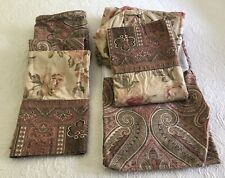 ECHO DESIGN Twin Paisley Bed Skirt & Shams, Matching Paisley & Floral Sheets Set