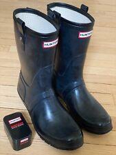 Hunter Original Short Boots, Waterproof, Men's 12, Black