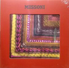 "Missoni Silk Scarf Foulard 34""X34"" 100% Silk New-Sealed, Orange Label NOT Target"