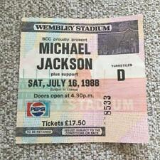 Michael Jackson ticket Wembley Stadium 16/07/88 #8533  Bad tour