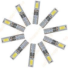 10 x T5 12V 2-5630-SMD LED White Dashboard Gauge Light Car Signal bulbs mini