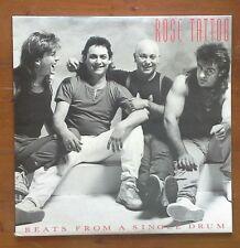 (ROSE TATTOO-Beats from a Single Drum)-ferocious, ear-splitting sound-D7-LP
