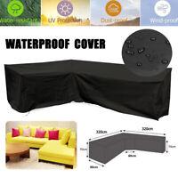 "126""x126"" L Shape Sofa Patio Outdoor Garden Furniture Cover Waterproof Protector"