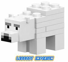 LEGO Minifigure - Minecraft Baby Polar Bear - animal FREE POST