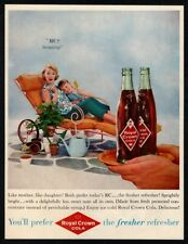 1959 ROYAL CROWN Cola Soda - Mother & Daughter Served RC Lounge Chair VINTAGE AD