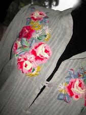 Johnny Was Boho Peasant Dress S 4-6 FR38 *Brilliant+BOLD Silk Floral Peasant!