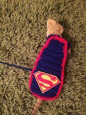 Handmade Crochet Superman Cape Reptile Bearded Dragon Harness