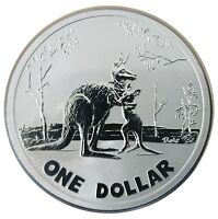 AUSTRALIA 2007 KANGAROO FROSTED UNCIRCULATED $1 ONE DOLLAR FRUNC COIN RAM