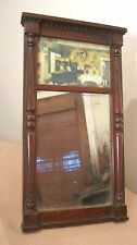 antique 1909 hand made carved mahogany ornate Corell table wall mirror print