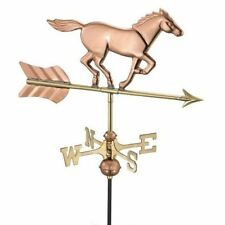 Good Directions Horse Garden Weathervane Polished Copper w/ Roof Mount 801PR