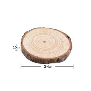 Unfinished Natural Round Wood Slices Circles Discs Crafts Creative New